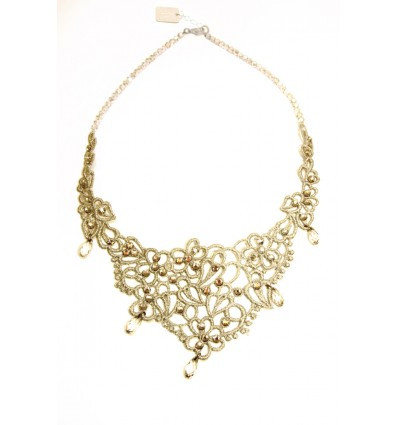 MACRAME' NECKLACE IN GOLD