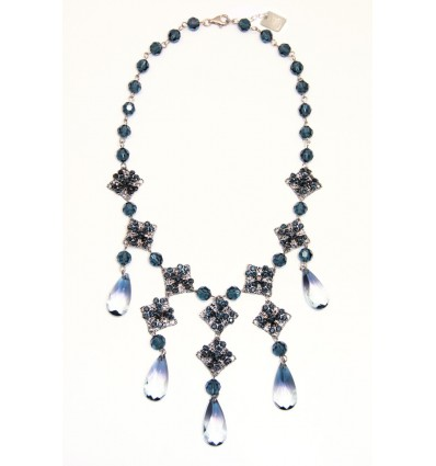 RENAISSANCE- SWAROVSKI NECKLACE IN BLUE