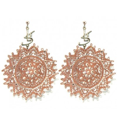 "MACRAME' ""SLE"" EARRINGS IN GOLDEN BRONZE"