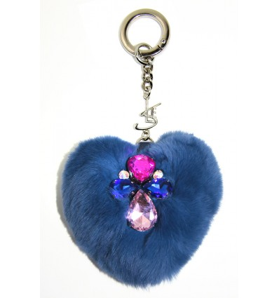 """SLE HEART"" KEYRING IN BLUETTE"