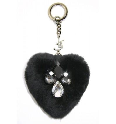 """""""SLE HEART""""  KEYRING IN BLACK"""