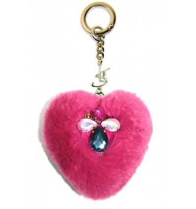 """SLE HEART"" KEYRING IN FUXIA"